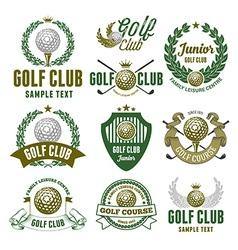 Golf logo set vector image vector image