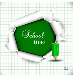 Torn School Paper vector image vector image