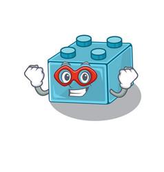 A cartoon concept lego brick toys performed as vector