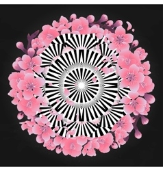 Abstract circle ornament vector