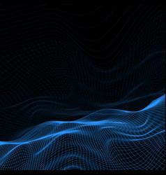 Abstract wireframe landscape vector
