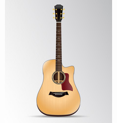 Acoustic guitar cutout dreadnought isolated vector