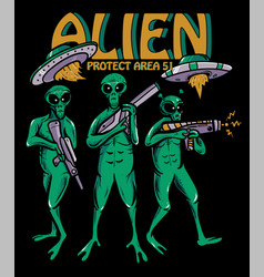 aien protect area 51 vector image