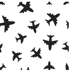 airplane seamless pattern background business vector image