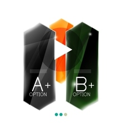 Arrow infographics element vector image