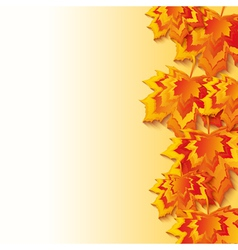Autumn background with 3d maple leaf fall vector