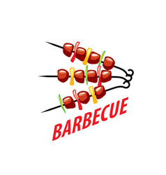 barbecue party logo vector image