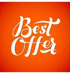 Best offer logo best offer print on t-shirt vector