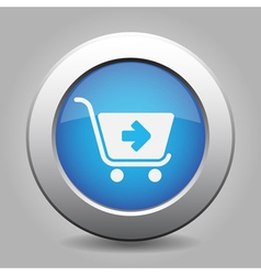 Blue button - shopping cart next vector