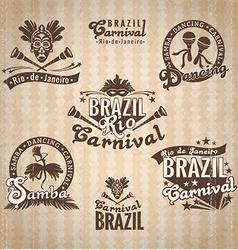Brazilian Carnival Big set of Brazilian templates vector image