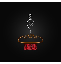 bread ornate design background vector image