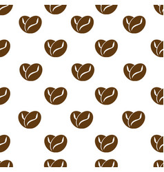 Brown beans coffee love seamless pattern vector