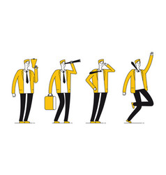 businessman character flat successful businessman vector image