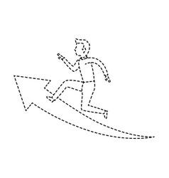 Businessman mounted on a arrow avatar character vector