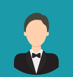 butler characte icon great of character use for vector image