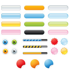 button effects vector image