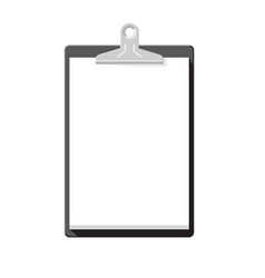clipboard with blank paper simple template vector image