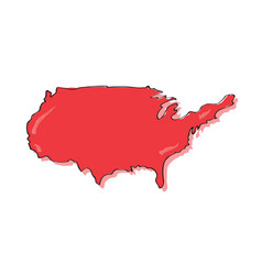 comic drawing of a map of the united states vector image