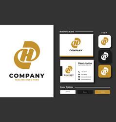 creative professional trendy letter h logo vector image