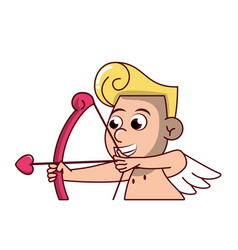 Cupid with arch vector