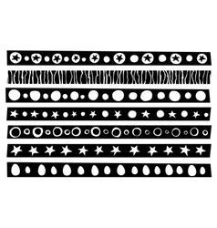 Decorative border patterns collection vector