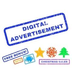 Digital Advertisement Rubber Stamp vector