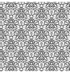 Elaborate curly black and white pattern vector