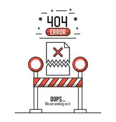 Error 404 infographic vector