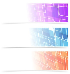 Fashion abstract geometry header collection vector image vector image