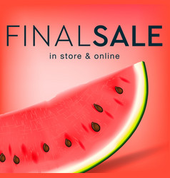 final sale social media template for online store vector image
