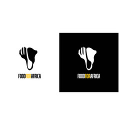 Food word logo for africa is simple and unique vector