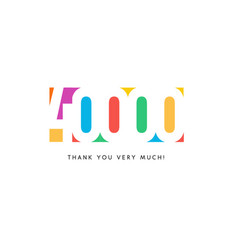 Forty thousand subscribers baner colorful logo vector