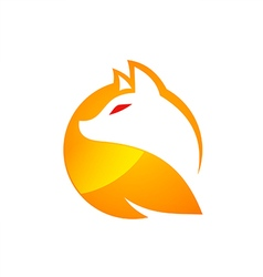 fox icon abstract vector image