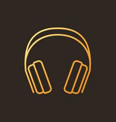 gaming headphones concept colored outline vector image