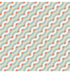 Geometric seamless pattern with diagonal waves vector