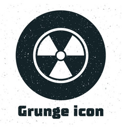 Grunge radioactive icon isolated on white vector