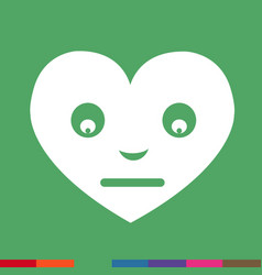 heart face emotion icon sign design vector image
