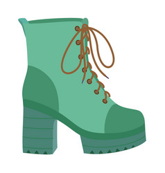 hight woman boot icon flat style vector image