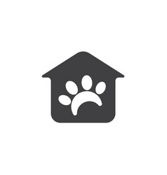 home and pet paw pet shop logo vector image