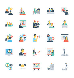 human resources and management icons 8 vector image