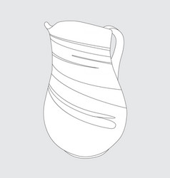 image of a simple jug vector image