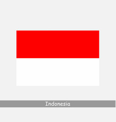 Indonesia indonesian national country flag banner vector