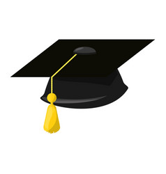 Isolated graduation cap vector
