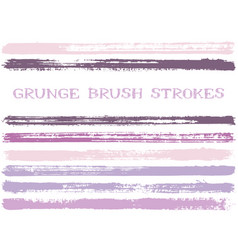 light ink brush strokes isolated design elements vector image