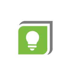 Lightbulb symbol in green box design vector