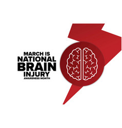 March is national brain injury awareness month vector