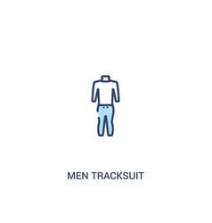 Men tracksuit concept 2 colored icon simple line vector