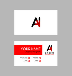 modern creative business card template with ai vector image