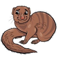 Mongoose animal cartoon vector