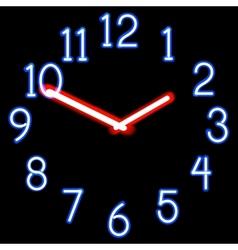 Neon clocks vector